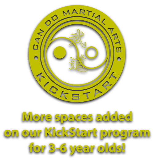 More Spaces Added on our KickStart program for 3-6 year olds!